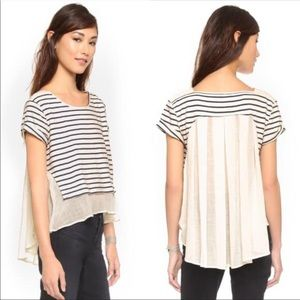 Free People French Kiss striped high low top